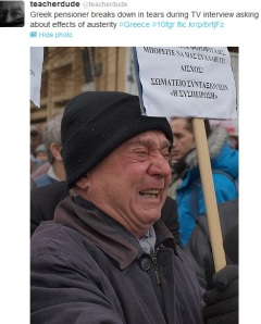 Tο δάκρυ του Έλληνα συνταξιούχου
