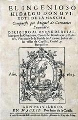 Εξώφυλλο της τέταρτης έκδοσης του Δον Κιχώτη (1605).